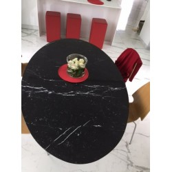 TULIPANO TABLE ROUND OR OVAL NERO MARQUINIA MARBLE