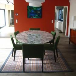 TULIPANO TABLE ROUND OR OVAL ARABESCATO VAGLI MARBLE
