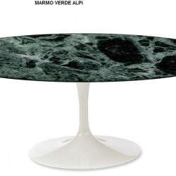TULIPANO TABLE ROUND OR OVAL VERDE ALPI MARBLE