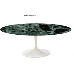 TULIP TABLE ROUND OR OVAL VERDE ALPI MARBLE