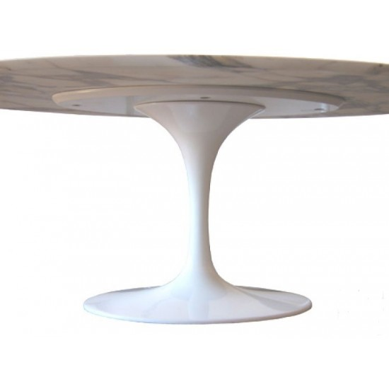 TULIP TABLE ROUND OR OVAL ARABESCATO VAGLI MARBLE