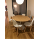 TULIPANO TABLE ROUND OR OVAL ASH WOOD TOP